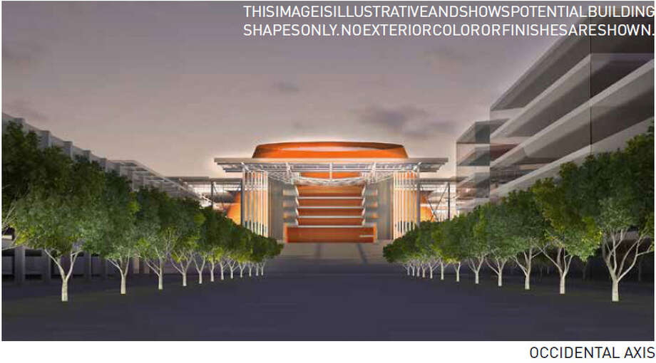 Dec. 12, 2012:360 Architects adds a big orange ''icon''to its preferred arena design option. Meanwhile, the Seattle Department of Planning and Development holds several meetings to show 360 Architecture's ideas and take public comment.  Photo: Via Seattle DPD, 360 Architecture