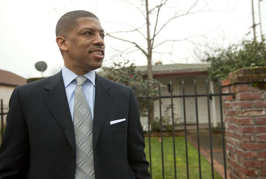 Jan. 15, 2013:As reports fly that Chris Hansen is close to a deal with the Maloofs to buy a 65 percent controlling stake of the Kings -- for an overall franchise valuation of $525 million, an NBA record -- Sacramento Mayor Kevin Johnson (pictured) appeals to NBA Commissioner David Stern to let the city make a counteroffer before the NBA's board of commissioners. Stern says OK.  Photo: Robert Durel, Washington Post / Getty Images