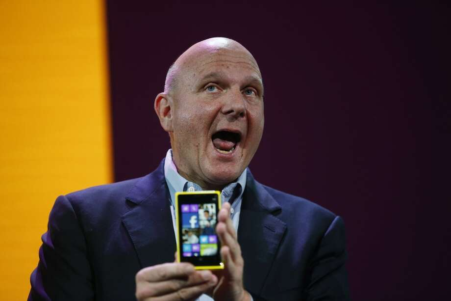 Microsoft CEO Steve Ballmer announced Friday that he will retire in 12 months. So this seemed like a good occasion for a look back at the effusive executive through the years. Photo: Stephen Lam, Getty Images