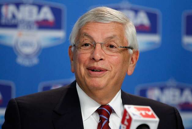 Feb. 6, 2013: NBA Commissioner David Stern confirms that Chris Hansen's ownership group has formally applied to the league for relocating the Kings to Seattle for 2013-14 season. The NBA's Board of Governors is expected to vote on the pending sale and relocation application in April.  Photo: Boris Streubel, Getty Images