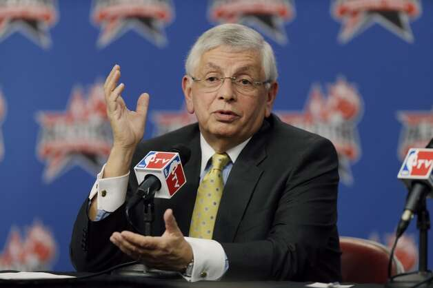 Feb. 14 to 17, 2013: The Kings-to-Seattle situation is a hot topic during the weekend of the 2013 NBA All-Star Game. Commissioner David Stern ducks scores of questions from reporters, but comes up with this quote: ''The idea of leaving Sacramento is not a good one. The idea of going back to Seattle is a good idea. We'll have to see how that plays out.'' Stern also comments on the bankruptcy issue, saying, ''These are the kinds of issues that usually get resolved -- they do or they don't.''  Photo: Pat Sullivan, Associated Press