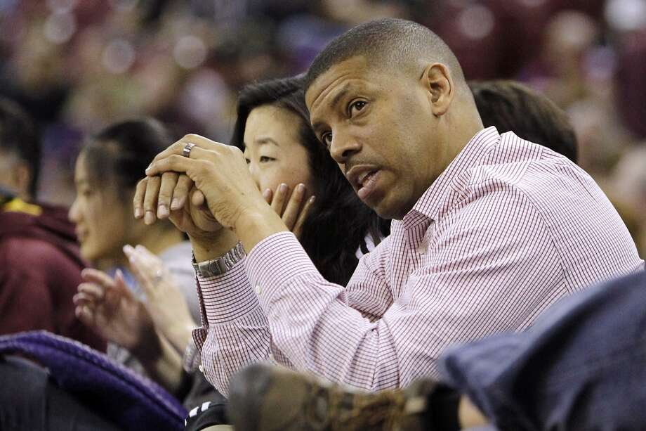 Feb. 28, 2013:In his ''State of the City'' address, Sacramento Mayor Kevin Johnson announces the ''big whales'' we'd already known about -- Mark Mastrov and Ron Burkle -- as the main investors in a new group that will bid against Chris Hansen for the Sacramento Kings. ''With all due respect to Seattle,'' Johnson says, ''it is not going to be this team, our team. No way.''  Photo: Rich Pedroncelli, Associated Press