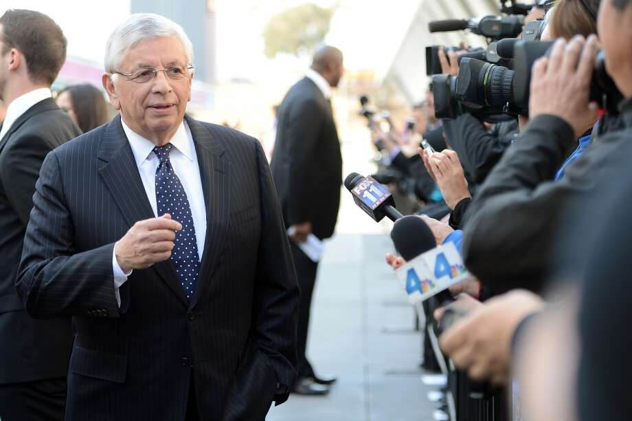 March 8, 2013:NBA Commissioner David Stern says the Sacramento bid, headed by Mark Mastrov, Ron Burkle and Mayor Kevin Johnson, is ''not quite there'' when compared to the Seattle bid. ''Unless the (bid amount) increases,'' Stern said, ''it doesn't get to the state of consideration.''  Photo: Harry How, Getty Images