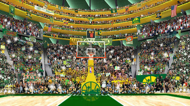 March 14, 2013: Coinciding the the launch of a priority ticket waitlist, Chris Hansen's group releases renderings and a video of the latest designs for the interior of the proposed new Seattle arena.  Photo: Courtesy Image, SonicsArena.com
