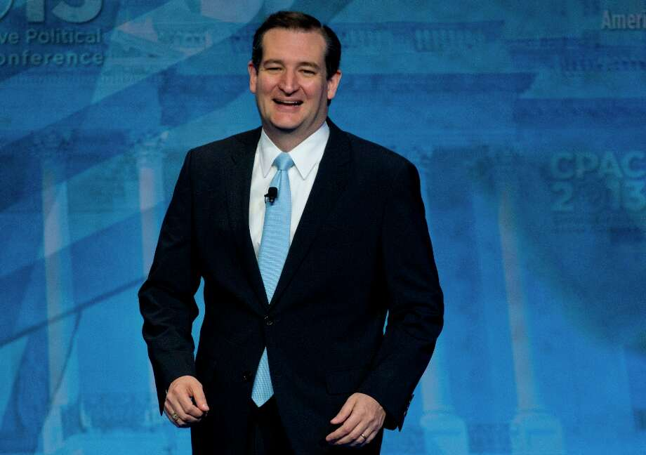 Sen. Ted Cruz, R-Texas, arrives to speak at the 40th annual Conservative Political Action Conference in National Harbor, Md., Saturday, March 16, 2013. Diehard activists at the three-day conference are already picking favorites in what could be a crowded Republican presidential primary in 2016. (AP Photo/Carolyn Kaster) Photo: Carolyn Kaster, Associated Press / AP