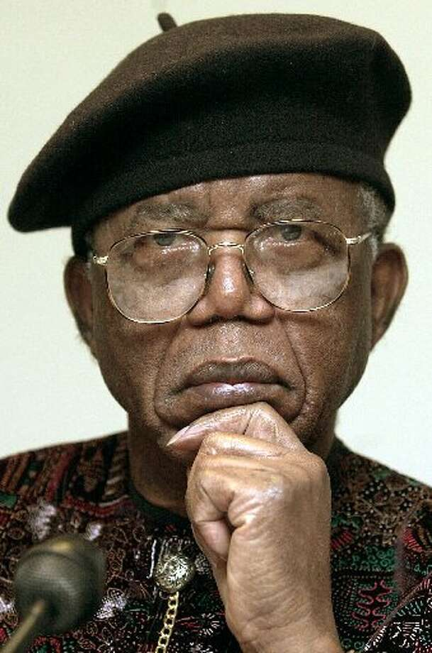 Nigerian writer Chinua Achebe, who died March 22, 2013.