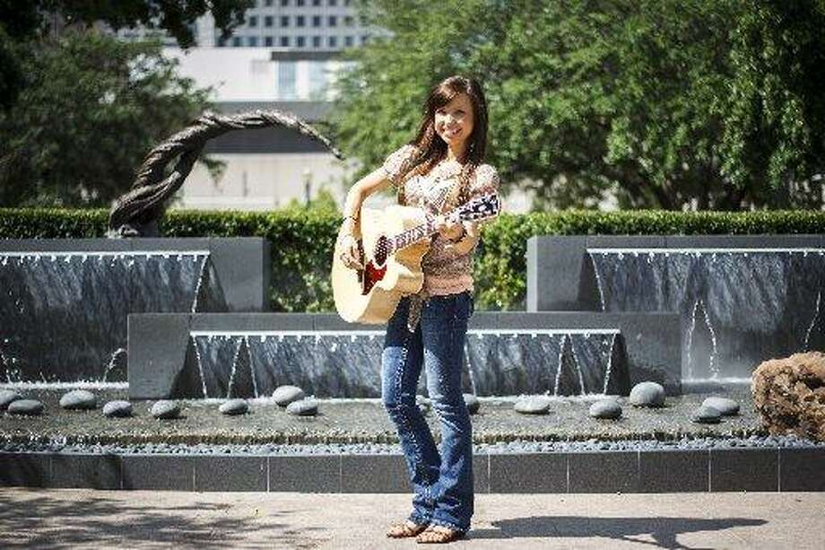 Savannah Berry in Market Square Park in downtown Houston.