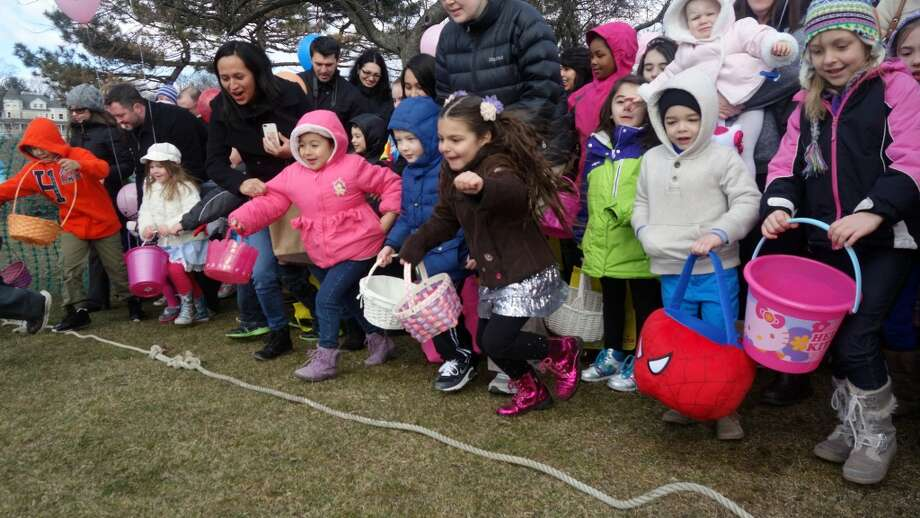 Greenwich Easter egg huntThe Greenwich Lions & ShopRite Annual Egg Hunt will be held Saturday  at Roger Sherman Baldwin Park. The gate will open at 10:30 a.m. and the  first hunt is set for 11 a.m. Numerous hunts for different age groups  will be staged at intervals thereafter. Tickets are $10, available at  the gate. Call 203-869-1630 x506 for more information.