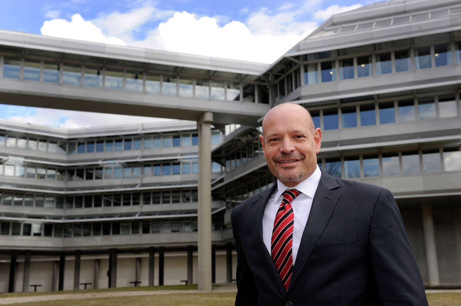 Aaron Smiles, the managing director/ commercial leasing for the Matrix Corporate Center in Danbury, Connecticut, is photographed Wednesday, March 27, 2013. Photo: Carol Kaliff / The News-Times