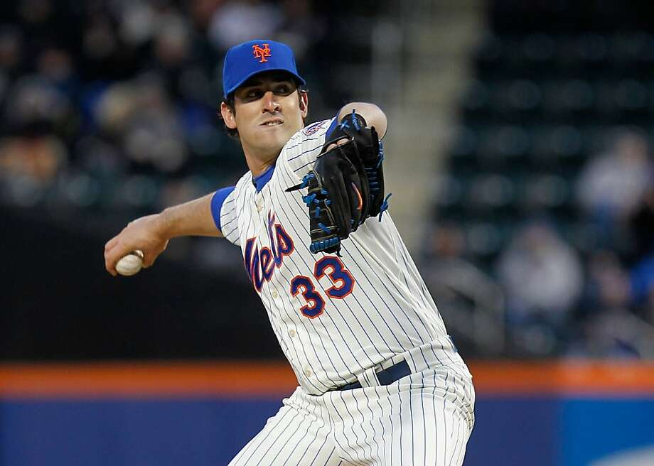 Matt Harvey also has a .333 career average. Photo: Mike Stobe, Getty Images