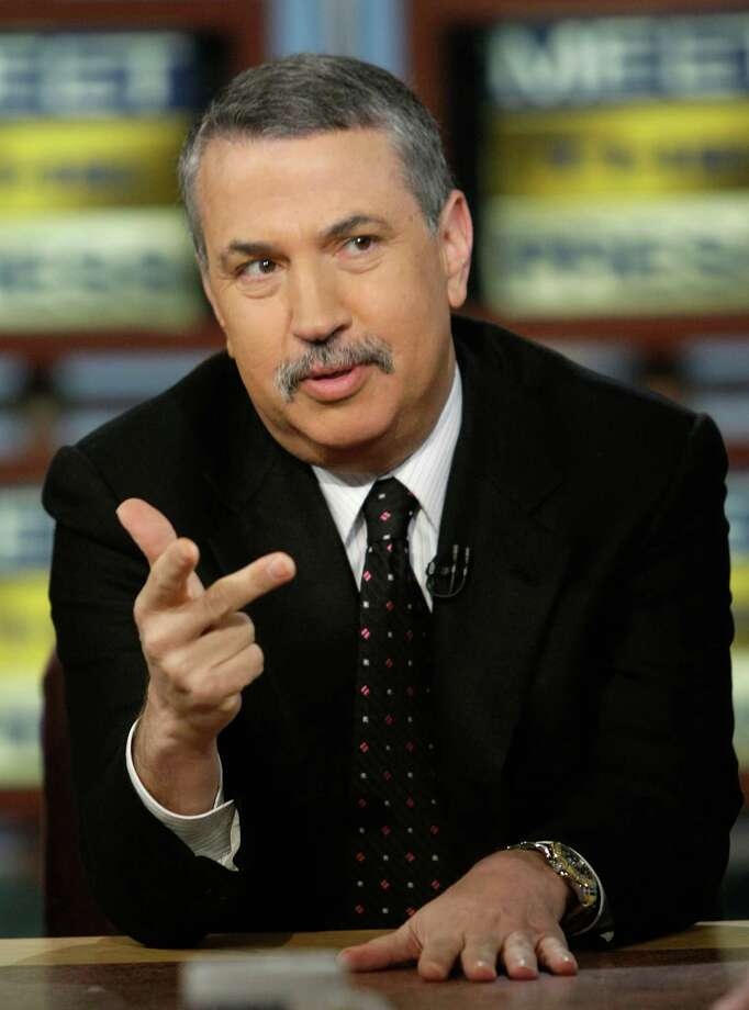 "WASHINGTON - JANUARY 25:  (AFP OUT)  New York Times columnist Tom Friedman speaks during a taping of ""Meet the Press"" at the NBC studios January 25, 2009 in Washington, DC. Friedman discussed on various topics including the Obama Administration's plan on dealing with the economic crisis.  (Photo by Alex Wong/Getty Images for Meet the Press) Photo: Alex Wong / 2009 Getty Images"