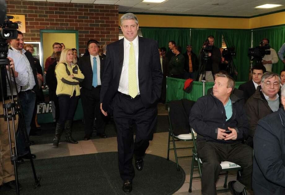 Siena College's new men's basketball coach Jimmy Patsos is introduced at a press conference Wednesday April 3, 2013 in Loudonville, N.Y. (Michael P. Farrell/Times Union) Photo: Michael P. Farrell