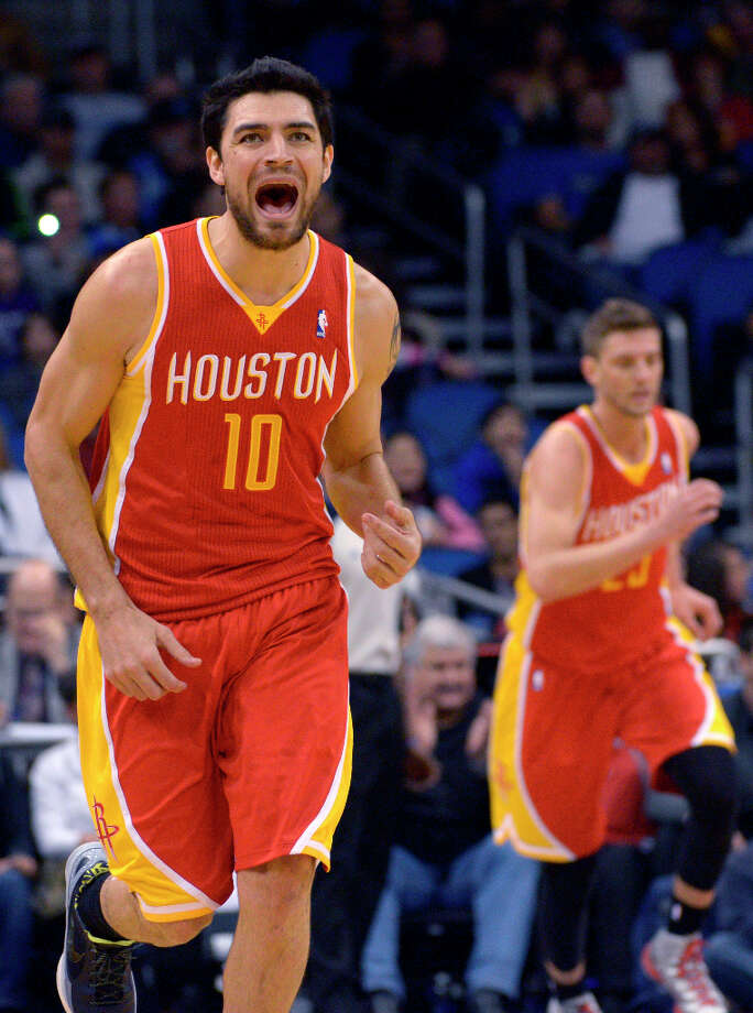 March 1: Rockets 118, Magic 110Forward Carlos Delfino helped Houston break its two-game losing streak with 21 points, including five 3-pointers. Record: 32-28. Photo: Phelan M. Ebenhack, Associated Press