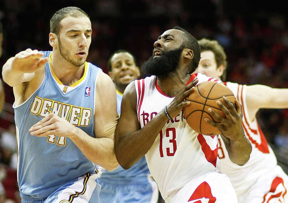 Jan. 23: Nuggets 105, Rockets 95The Nuggets used a 36-22 third quarter differential to coast to an easy win in Houston. Record: 22-22. Photo: Nick De La Torre , Houston Chronicle / © 2013  Houston Chronicle