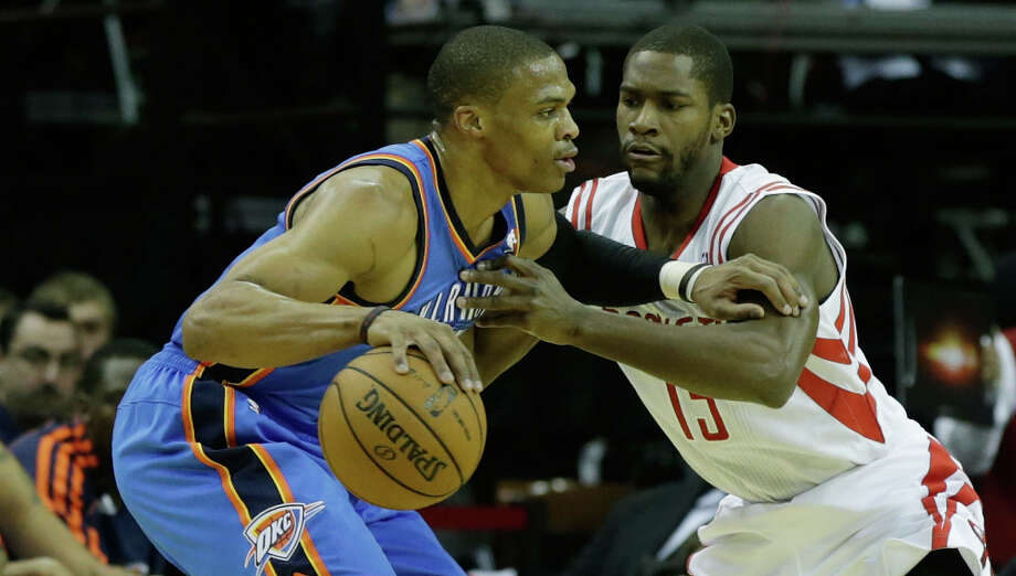 Dec. 29: Thunder 124, Rockets 94 Russell Westbrook and the Thunder were too much for the Rockets to handle as he scored 28 points to go along with eight assists and eight rebounds. Record: 16-14. Photo: Scott Halleran, Getty Images / 2012 Getty Images