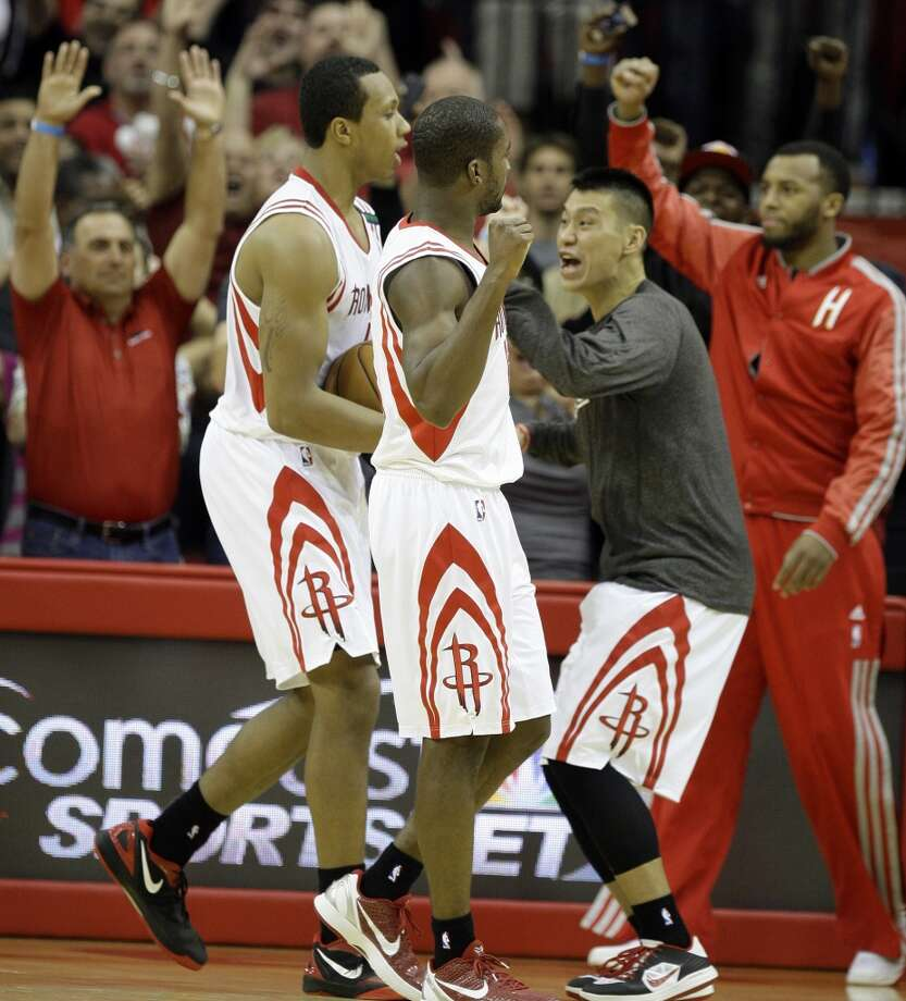 Dec. 4: Rockets 107, Lakers 105It wasn't the usual cast of characters who helped the Rockets get past the Lakers. Instead of Jeremy Lin and James Harden it was Toney Douglas and Greg Smith who got the job done. Record: 9-8. Photo: Melissa Phillip, Houston Chronicle