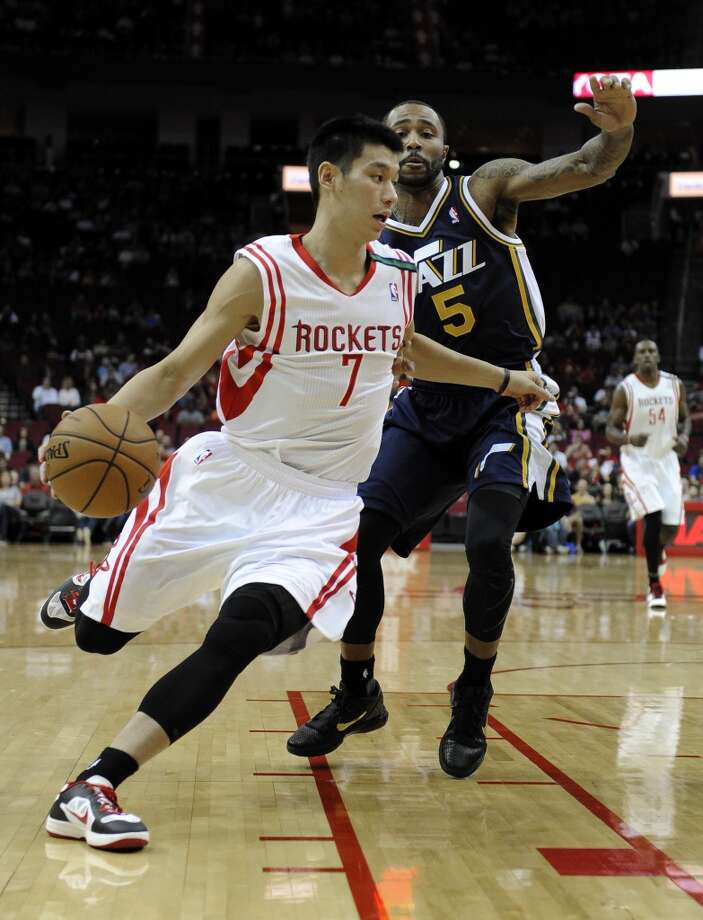 Dec. 1: Rockets 124, Jazz 116 Jeremy Lin had one of his better games in a Rockets jersey, recording 19 points and 8 assists. Record: 8-8. Photo: Pat Sullivan, Associated Press