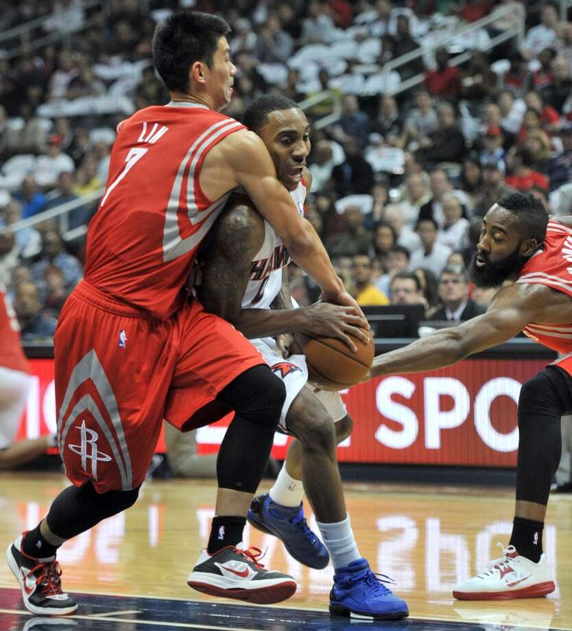 Nov. 2: Rockets 109, Hawks 102James Harden exploded for a career-high 45 points in the Rockets second win of the season. Jeremy Lin chipped in by scoring 21. Record: 2-0. Photo: Hyosub Shin, Atlanta Journal-Constitution/MCT