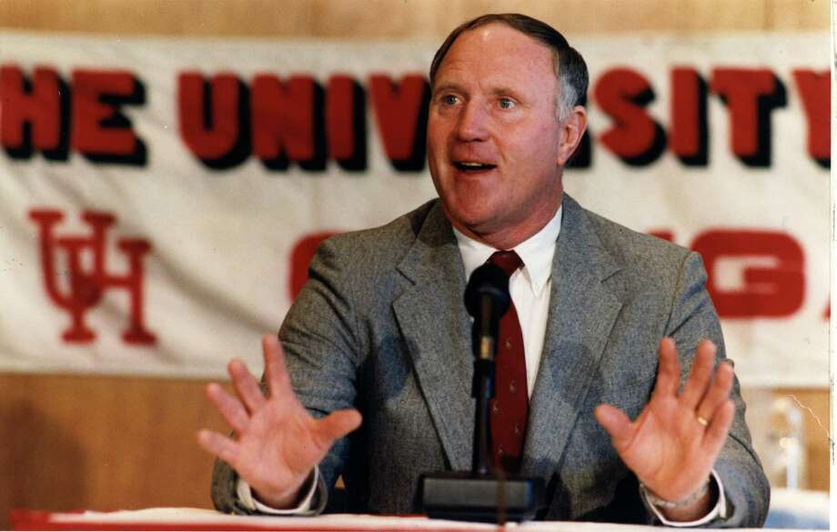 CONTACT FILED: JACK PARDEE.   12/02/1986 -- Jack Pardee at announcement of his appointment as new head football coach at University of Houston.    HOUCHRON CAPTION (12/03/1986):  Jack Pardee meets the media after being introduced as the new football coach at UH.   HOUCHRON CAPTION (01/09/1990):  Jack Pardee. Photo: Buster Dean, Staff / Houston Chronicle
