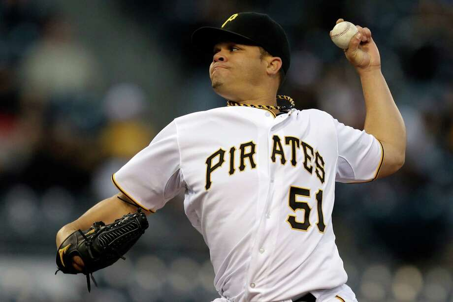 Former Astros lefthander Wandy Rodriguez gave the Pirates 62⁄3 scoreless innings in beating the Cubs. Photo: Gene J. Puskar, STF / AP