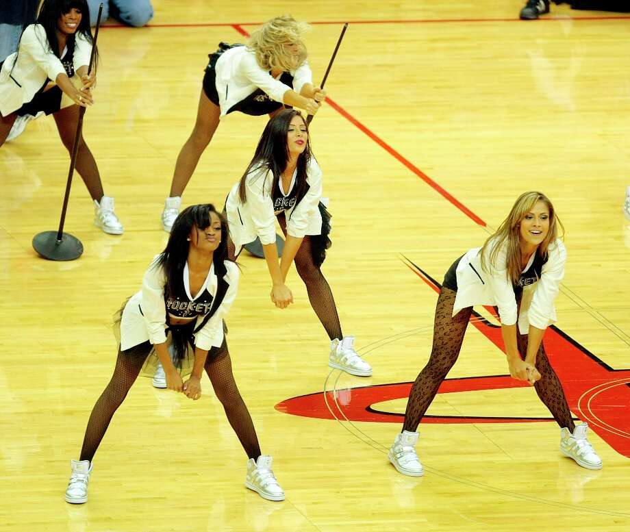 The Houston Rockets Power Dancers perform during the Houston Rockets and Miami Heat match-up at Toyota Center. Monday, Nov. 12, 2012, in Houston . Photo: Billy Smith II / © 2012 Houston Chronicle