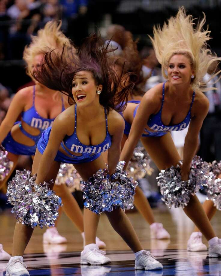 2140 x 2676~~$~~Dallas Mavericks cheerleader perform during the second half of an NBA basketball game Friday, March 15, 2013, in Dallas. The Mavericks won 96-86. Photo: LM Otero