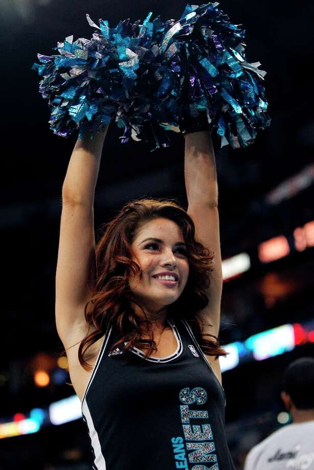 3264 x 4896~~$~~New Orleans Hornets Honeybee cheerleaders in the second half of an NBA basketball game against the Cleveland Cavaliers in New Orleans, Sunday, March 31, 2013. The Hornets won 112-92. Photo: Gerald Herbert