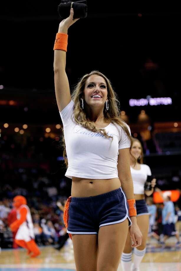 3456 x 5184~~$~~A Charlotte Bobcats cheerleader performs during the second half of an NBA basketball game against the Detroit Pistons in Charlotte, N.C., Saturday, March 23, 2013. Detroit won 92-91. Photo: Chuck Burton