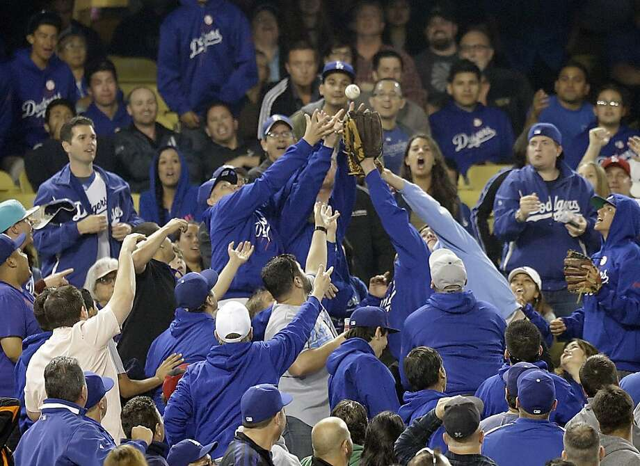 San Francisco Giants Los Angeles Dodgers  inning of a baseball game in Los Angeles Wednesday, April 3, 2013. (AP Photo/Reed Saxon) Photo: Reed Saxon, Associated Press