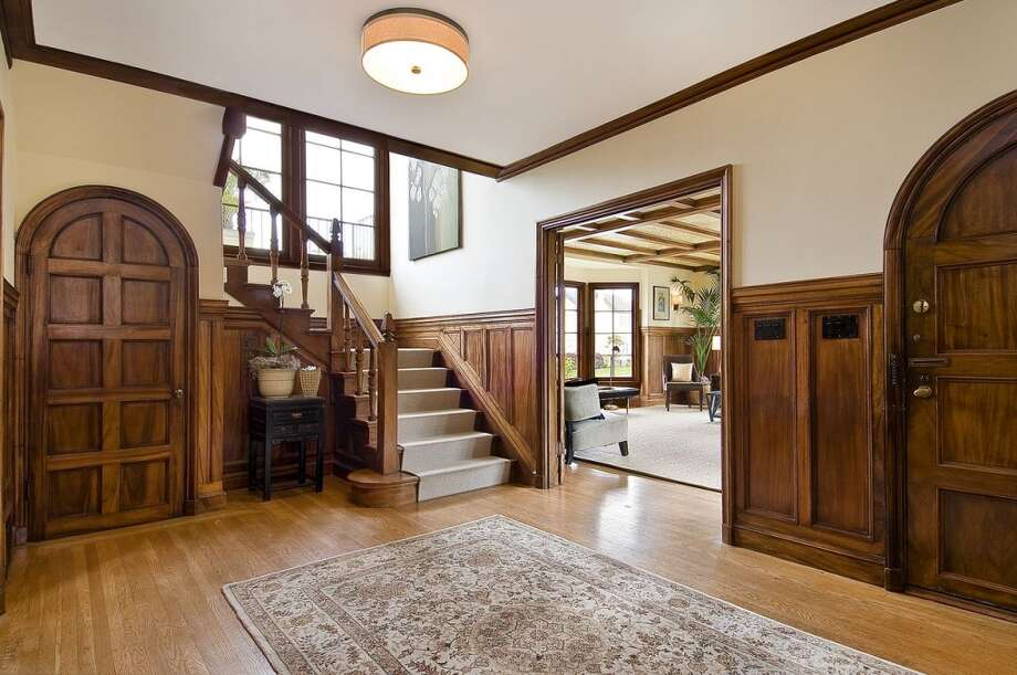 An open foyer leads into the home.