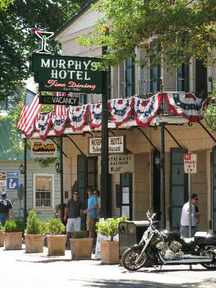 MURPHYS: The Murphys Hotel on Main Street — where John Muir once stayed — is one of the few buildings remaining from when the Calaveras County community was a boomtown. (Drive time: 2.5 hours)