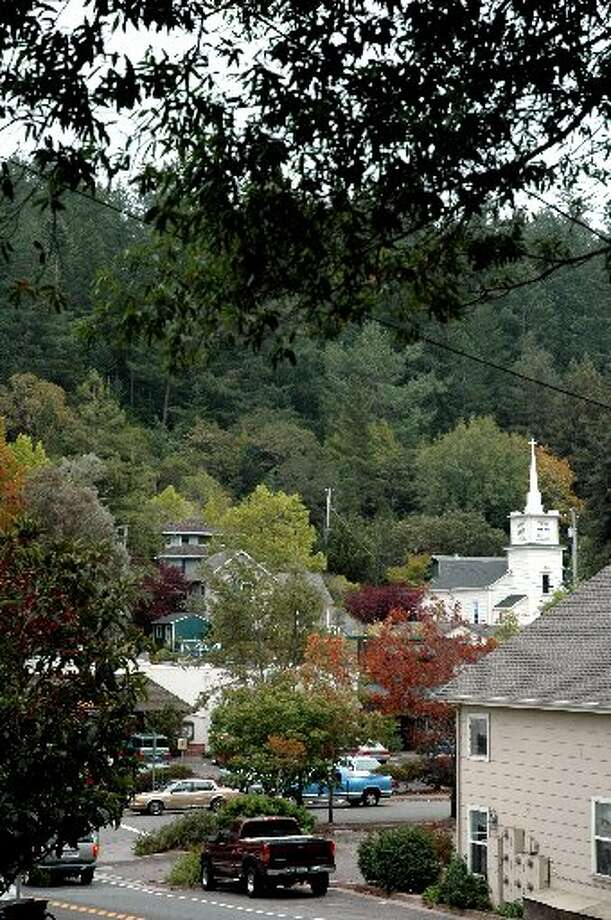 OCCIDENTAL: With its numerous steeples, dense foliage and houses tucked into the hillside, Occidental could double for a New England village in the fall. (Drive time: 1.5 hours)