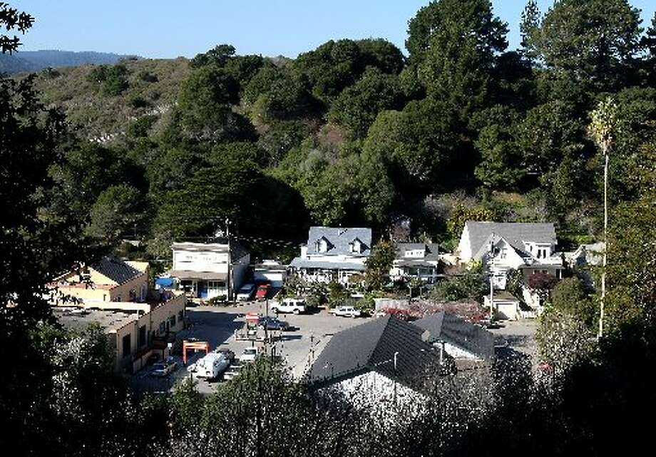 BOLINAS: A view from Little Mesa overlooking a portion of downtown Bolinas, Marin County\'s hippie enclave on the ocean. (Drive time: 1 hour)