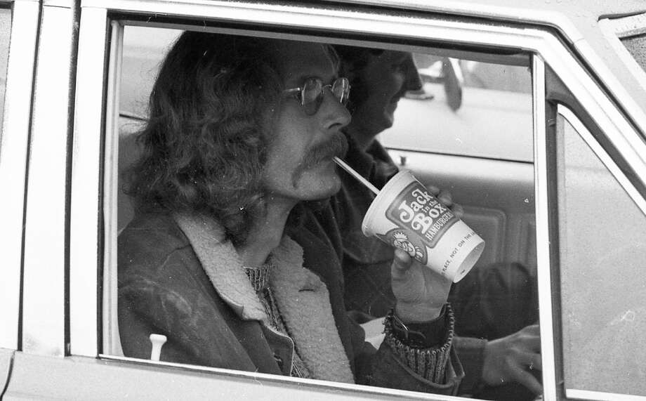 "Feb. 27, 1973: Since I first set eyes on this photo four days ago, I can\'t get ""Suite Judy Blue Eyes\"" out of my head. Another trend in fast food (related to the first one): Drinks were considerably smaller in 1973. I\'m pretty sure this was a large. \""It\'s getting to the point ...\"" Photo: Stephanie Maze, The Chronicle / ONLINE_YES"