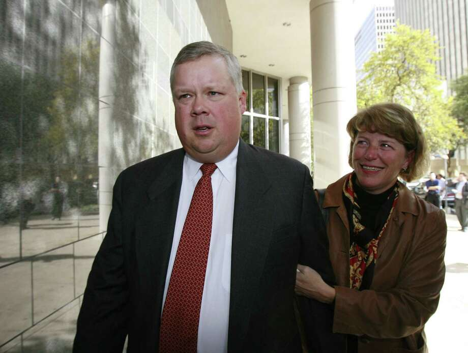 "Richard Causey (left) was the former Enron chief accounting officer. He pleaded guilty to securities fraud, and he completed the final weeks of  5-year, 6-month sentence this year at his Houston home. He is listed on LinkedIn as an ""independent accounting professional."" Photo: James Nielsen, Houston Chronicle / Houston Chronicle"