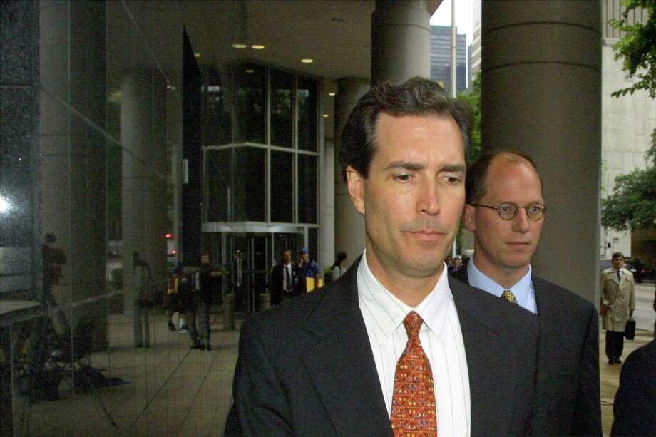 David Duncan, on the left, was an Arthur Anderson auditor. He withdrew his guilty plea after the Supreme Court reversed firm's conviction. He settled the Securities and Exchange Commission's complaint of securities laws violations, and as of 2011, he was serving as vice president and chief financial officer of Houston-based U.S. Pipeline. Photo: MICHAEL STRAVATO, AP / AP
