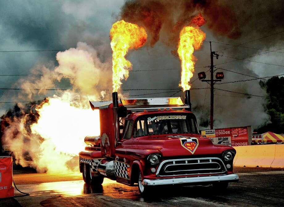 Super Shockwave car at Nitro Jam. Photo: Courtesy IHRA