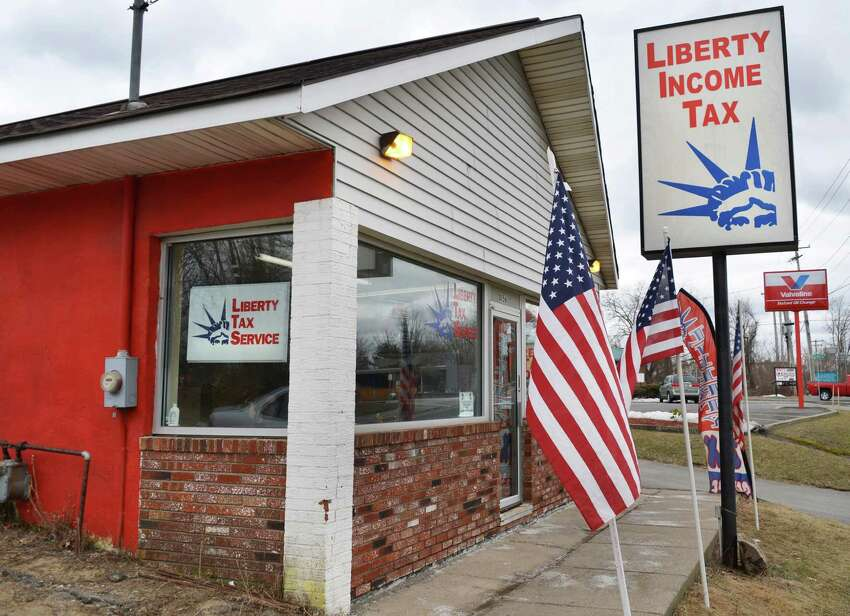 The Liberty Income Tax office on Altamont Avenue in Schenectady Thursday March 28, 2013. (John Carl D'Annibale / Times Union)