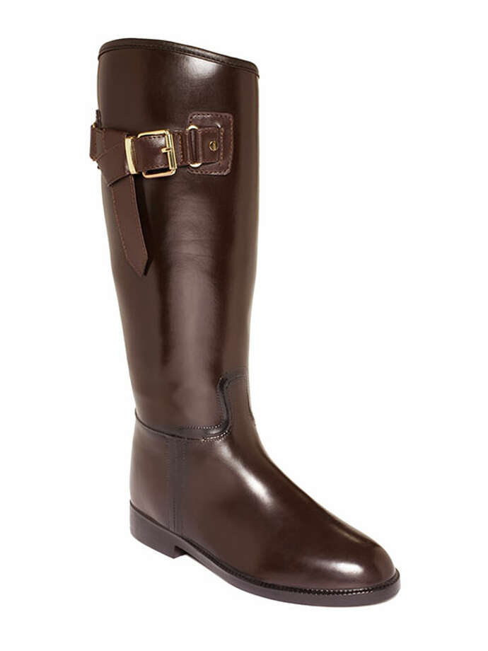Slip these weatherproof riding boots over leggings or jeans to prevent spring showers from cramping your style. Bootsi Tootsi Shoes, Buckle Riding Rain Boots, $90, Macy's.More beauty and fashion at Redbookmag.com. Photo: Contributed Photo