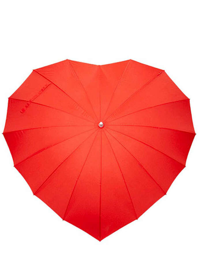 Wear your heart over your head with this over sized umbrella perfect for two. Impliva Heart Umbrella, $50, Obaz. Photo: Contributed Photo