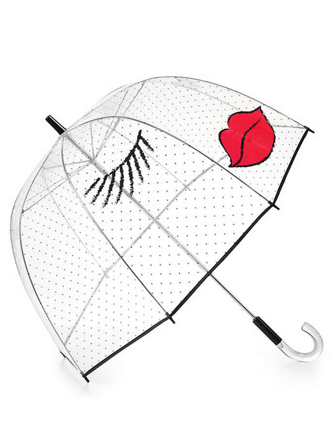 Make love to, not war with that downpour. SWAK. Felix Ray Kissy Face Umbrella, $65, Bloomingdales. Photo: Contributed Photo
