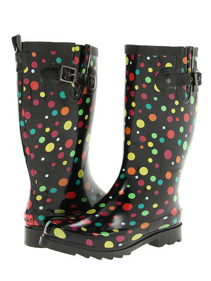 Put a splash of color into the next rainy day with boots to match every item in your closet. Chooka Floaters Rain Boot, $65, Zappos. Photo: 01, Contributed Photo