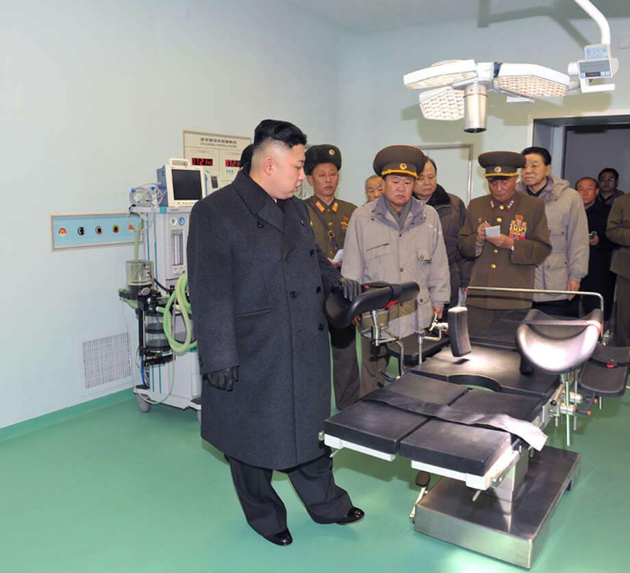 Kim Jong Un looking at stuff. Photo: Uriminzokkiri's Flickr Stream