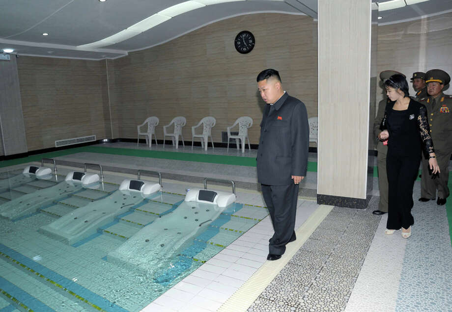 Kim Jong Un looking at a pool. Photo: Uriminzokkiri's Flickr Stream