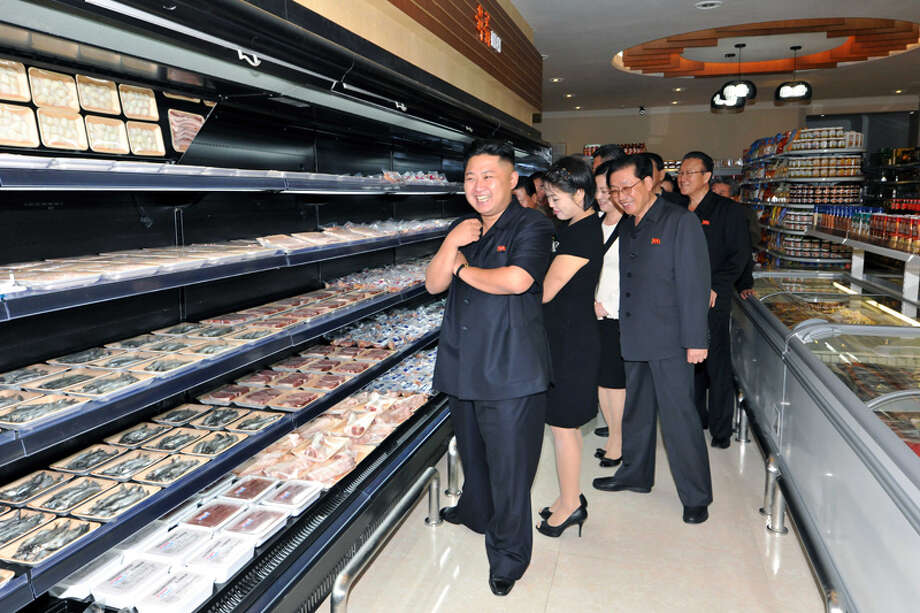 Kim Jong Un looking at the deli section. Photo: Uriminzokkiri's Flickr Stream