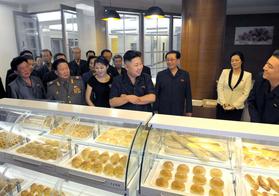 Kim Jong Un looking for a doughnut. Photo: Uriminzokkiri's Flickr Stream