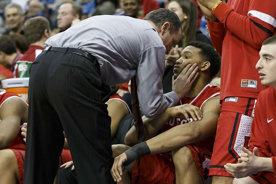 Rutgers men's basketball coach Mike Rice has been fired, the university announced Wednesday, April 3, 2013. Pictured in this file photo on March 8, Rutgers head coach Mike Rice has words with forward/center Derrick Randall during an NCAA basketball game against Seton Hall. (Chris Szagola/Cal Sport Media via Zuma Press/MCT) Photo: Chris Szagola/Cal Sport Media, McClatchy-Tribune News Service