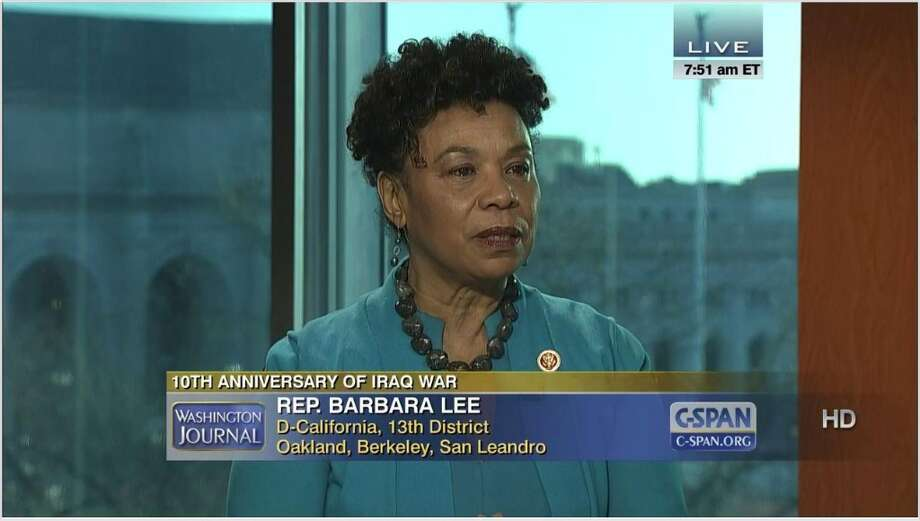 Rep. Barbara Lee, D-Calif., has spoken on the House floor on 12 days.