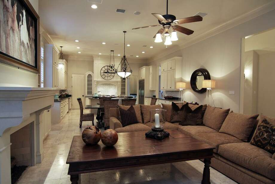 FAMILY ROOM...another view close up with view to kitchen. Photo: Martha Turner Properties