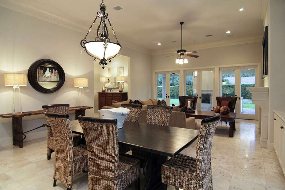 BREAKFAST ROOM AREA...open between family room and kitchen, but plenty of space for a large table. Photo: Martha Turner Properties
